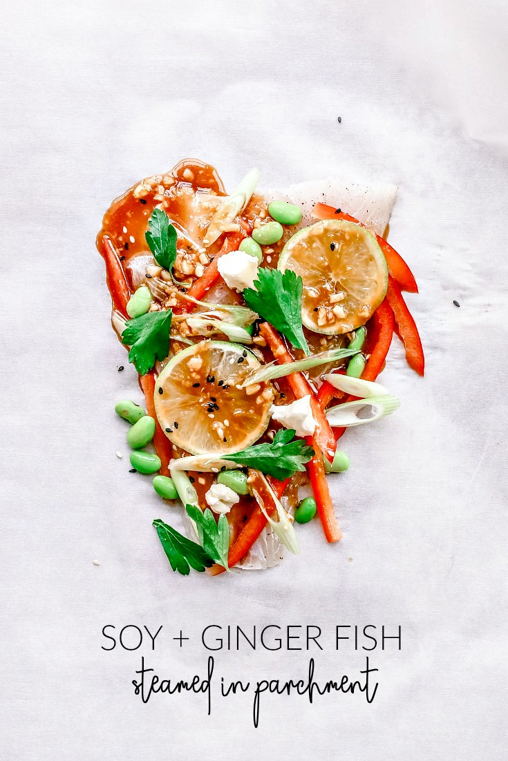 Soy and Ginger Fish Steamed in Parchment