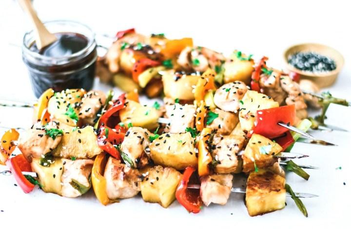 Grilled Teriyaki Chicken Kebabs With Pineapple