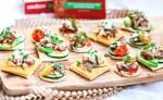 A platter of assorted canapés.