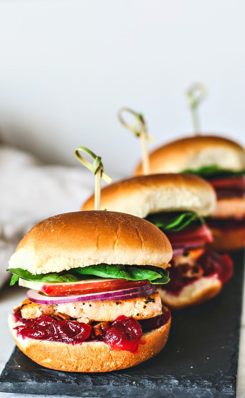 Salmon Sliders Close Up.