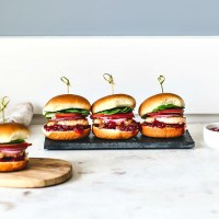 Sweet and Savory Salmon Sliders With Cranberry Sauce