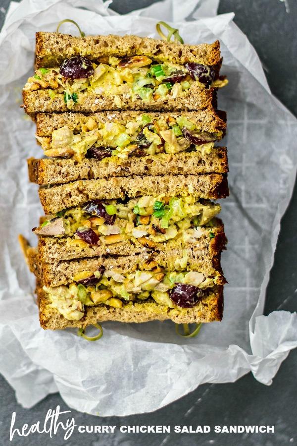 Healthy Curry Chicken Salad Sandwich