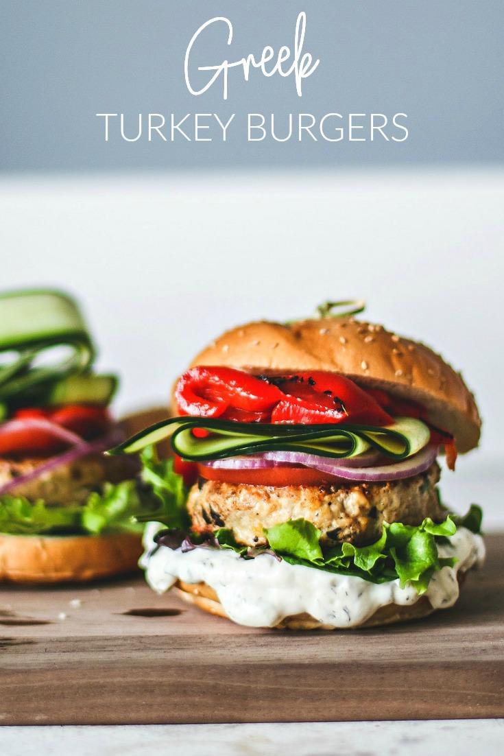 Tender Greek Turkey Burgers