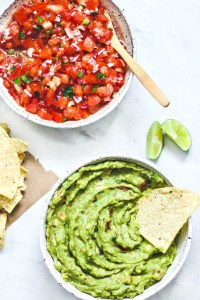 Homemade Salsa and Guacamole Recipe.
