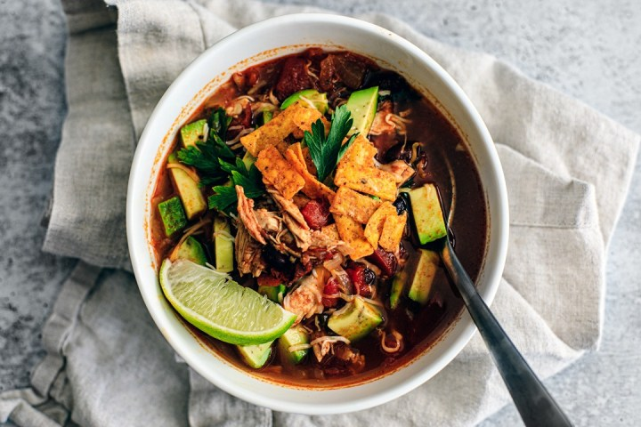 Bowl of Chicken Tortilla Soup.
