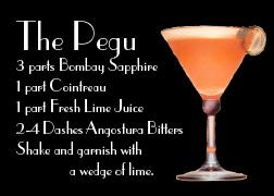Pegu Recipe Card