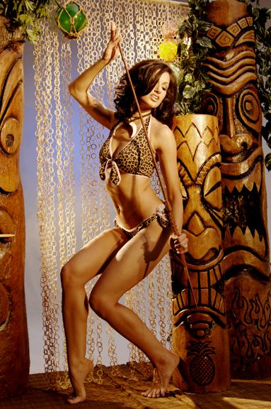 Leopard bikini tiki dancer