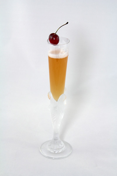 Oyo Stone Fruit and Champagne Cocktail - Stone Bubbles