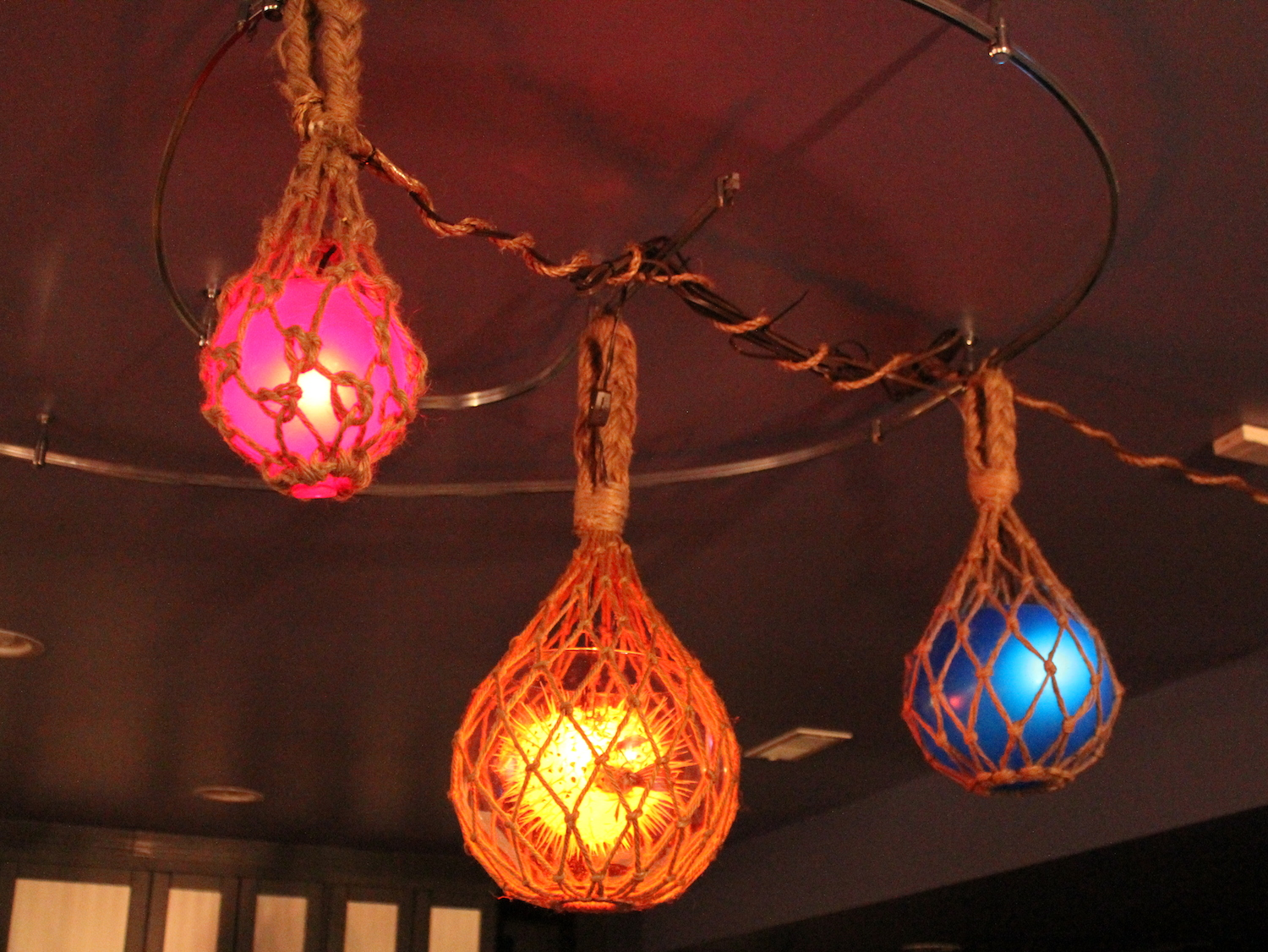 Tiki Blowfish And Glass Float Lights