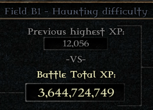 graphic shows xp total increasing from 12,056 to 3,644,724,749