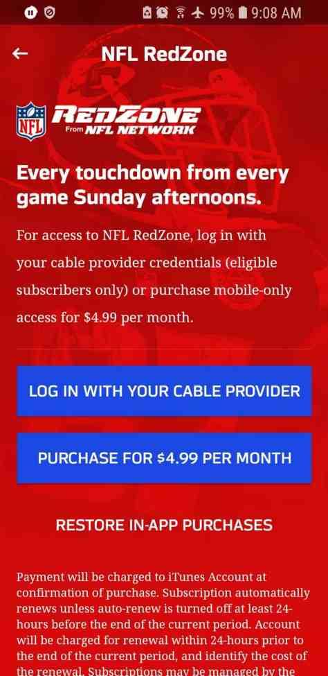 NFL Redzone on a Plane