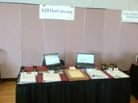 The KillTheCan.org Booth At The Summit