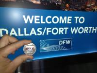 Matthew And HOF Coin At Dallas / Fort Worth