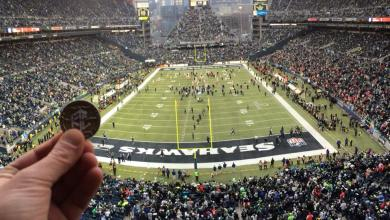 Photo of Luby at the NFC Championship Game at CenturyLink Field