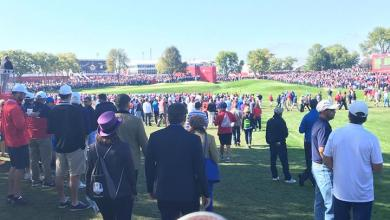 Photo of Y2baier Supporting Team USA During the Ryder Cup