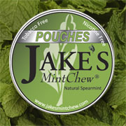 Jake's Natural Spearmint Pouch Label