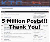 5 Million Posts Thank You