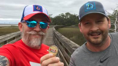 Photo of Roy and Hydro During the Jekyll Island Marathon