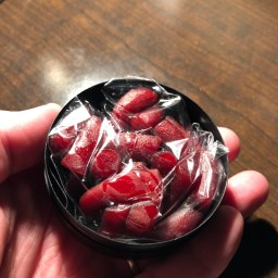 Long Ball Round Tripper Red Raspberry Dip Style 3