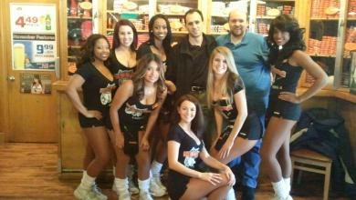 Photo of Evil_Won and Sox2012 With the Hooter's Gals