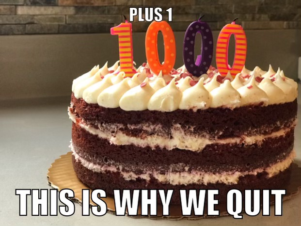 BBQchips 1000 Days Cake - 3.23.2021