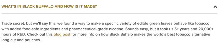 Black Buffalo Ingredients 1