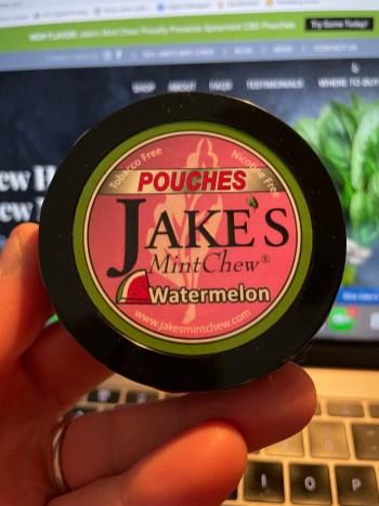 Jake's Mint Chew Watermelon Pouches 2
