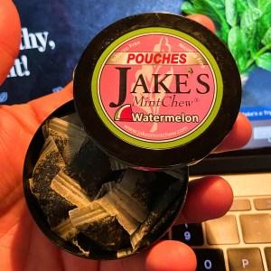 Jake's Mint Chew Watermelon Pouches Square