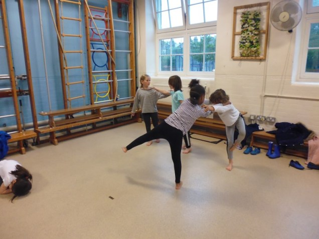 Kate's class Final dance session with Georgina