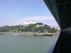 Blick von der UFO-Brücke