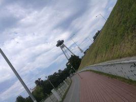 """über die """"UFO""""-Brücke nach Bratislava"""
