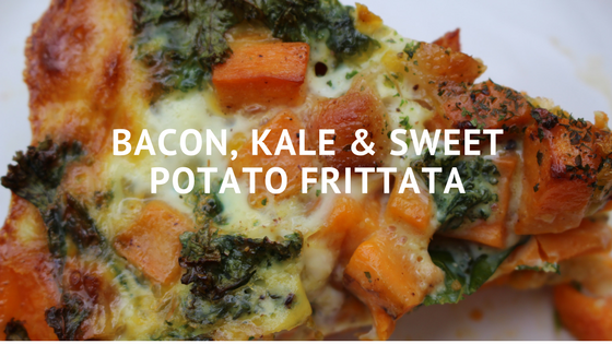 Bacon, kale & sweet potato frittata