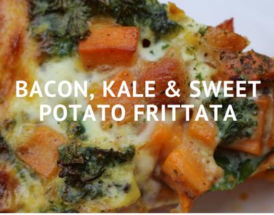 Bacon, kale & sweet potato frittata