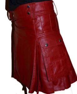 Leather Gladiator Scottish Warrior, Scottish Leather Kilts, best Leather kilts, best kilts