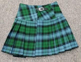 Campbell Ancient Homespun Kilted Mini Skirts