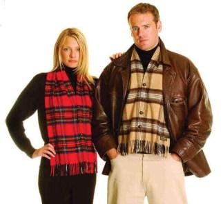 Lambswool Tartan Waistcoat Scarf