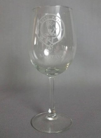 Murray Clan Crest Wine Glass