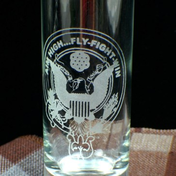 U.S. Air Force Etched Tall Shot Glass