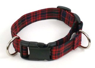 Light Weight Premium Wool 1-Inch Tartan Dog Collar and Leash Set