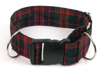 Poly-Viscose 2-Inch Tartan Dog Collar and Leash Set