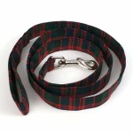 Medium Weight Premium Wool 1-Inch Tartan Dog Collar and Leash Set