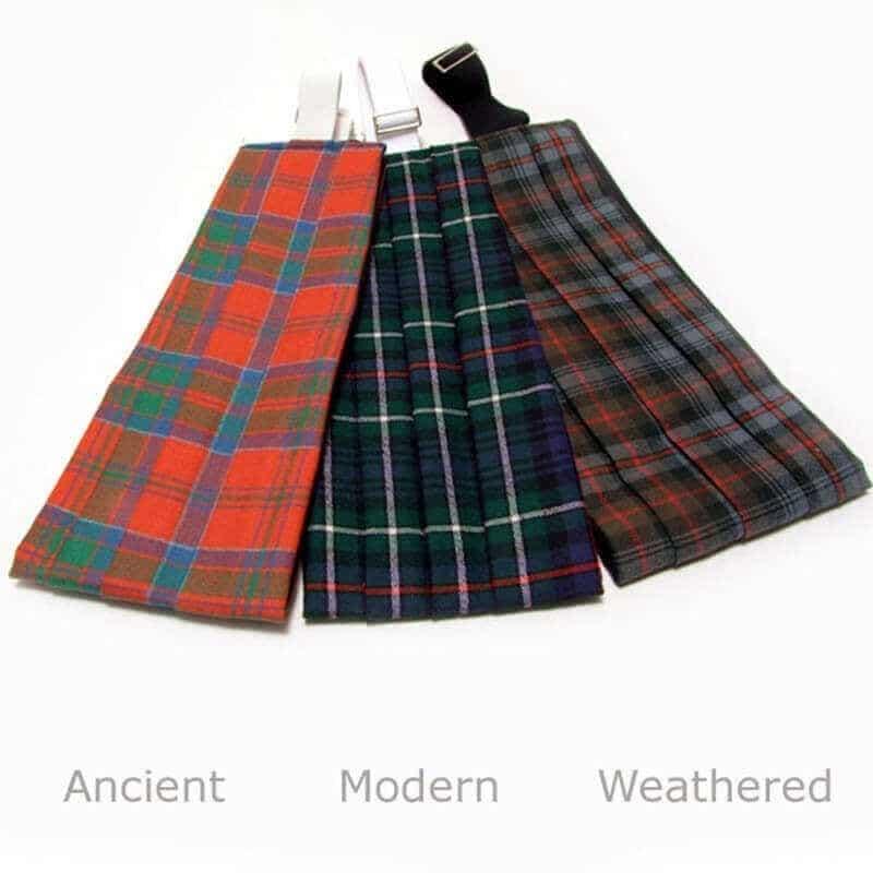 Mens Tie All Wool Made in Scotland Logan and MacLennan Modern Tartan