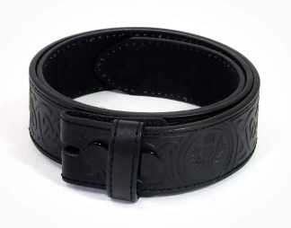 Celtic Thistle Embossed Trouser Belt