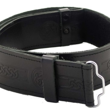 Economy Embossed Leather Kilt Belt