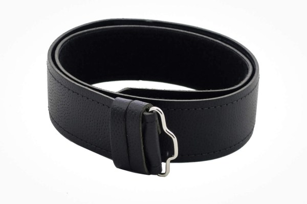 Economy Pebble Grain Leather Kilt Belt