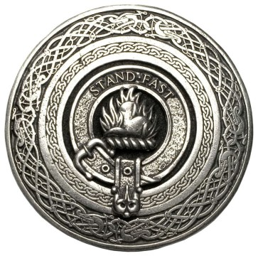 Clan Crest Round Pewter Kilt Belt Buckle