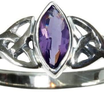 Purple Triskle Ring