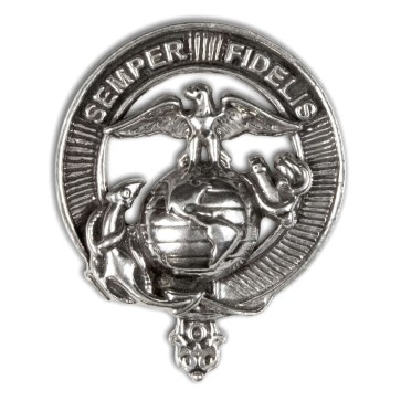 U.S. Marine Corps Pewter Cap Badge/Brooch