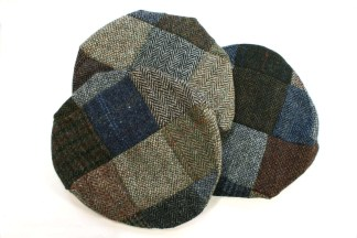 Harris Tweed Patchwork Caps