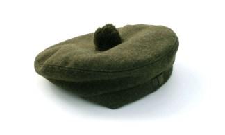 Khaki Military-Style Balmoral or Tam